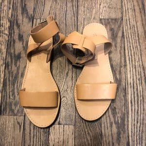 Madewell tan leather sandals size 6
